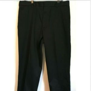 NWT MEN'S DOCKERS BLACK ANTI WRINKLE PANTS 36/30
